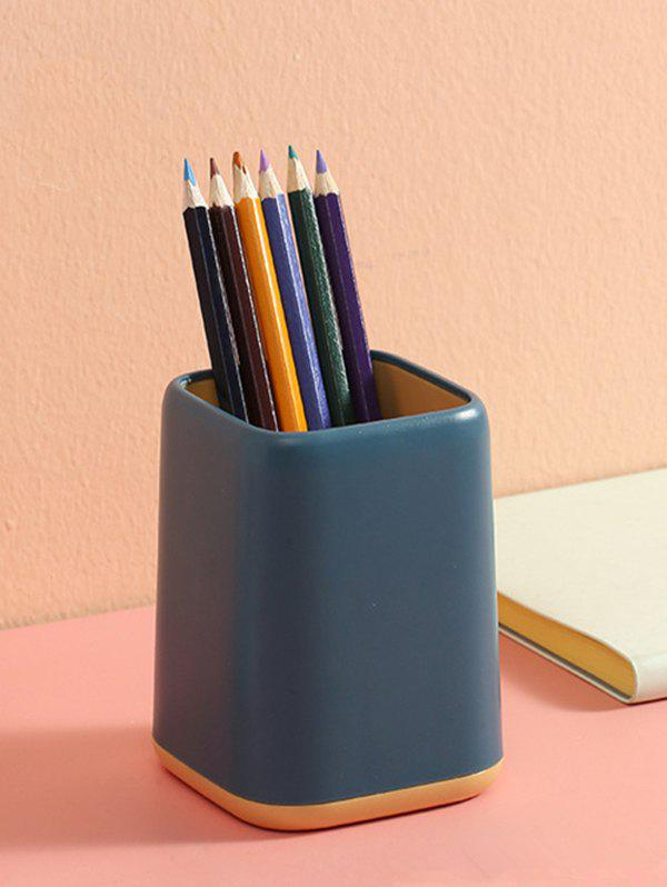 Two-tone Makeup Office Desk Multifunctional Pen Holder - DEEP BLUE