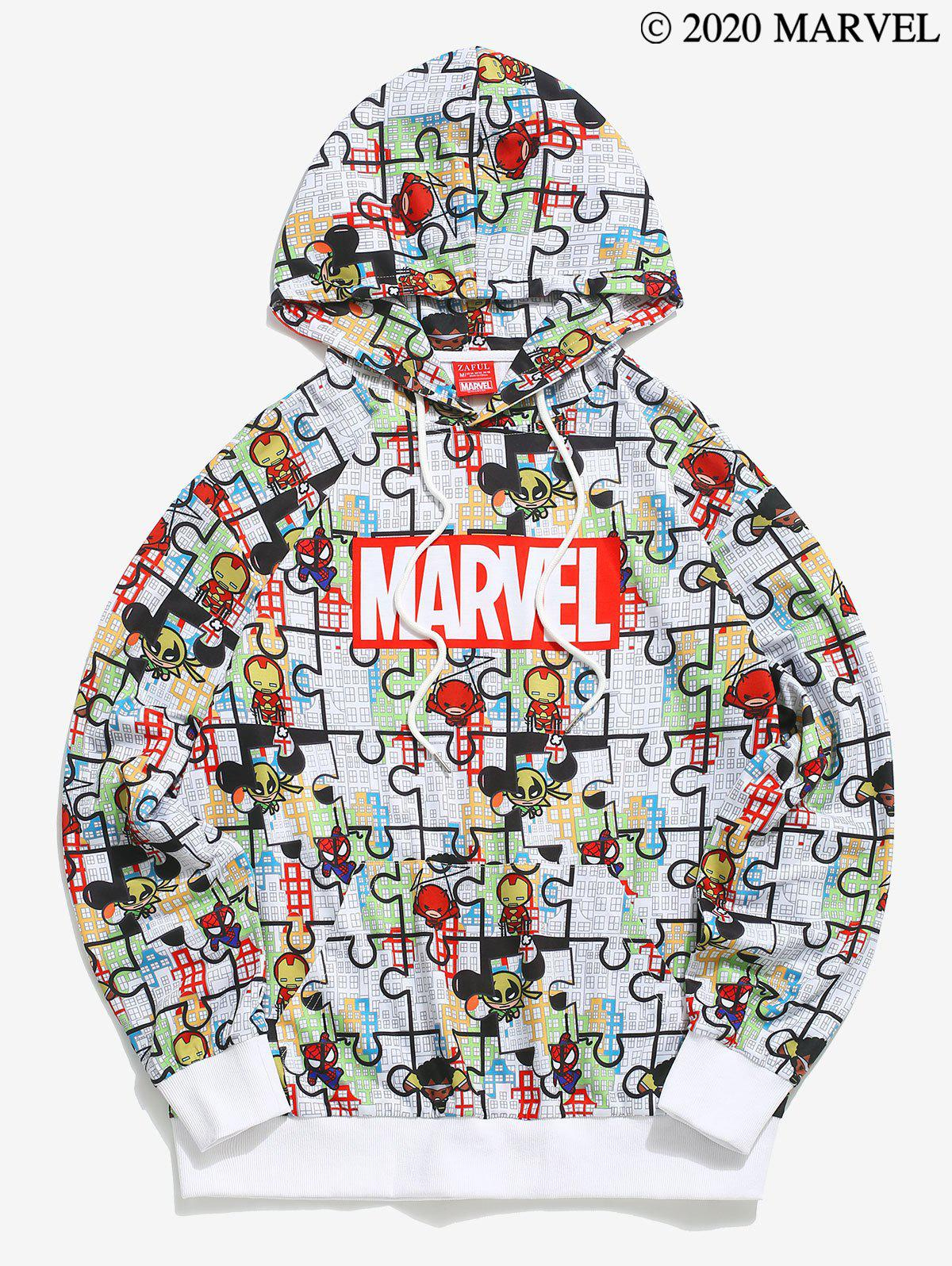Sweat à Capuche Pull-over Motif de Marvel Spider-Man Dessin Animé - multicolor M