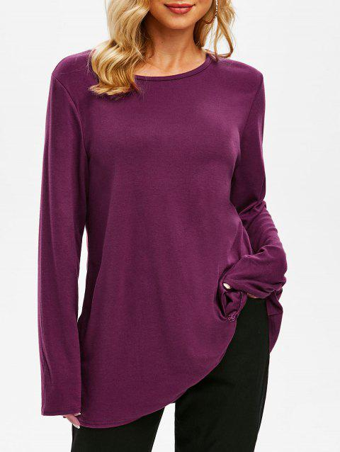 Twist Front Jersey Tunic Top