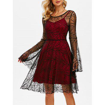 Halloween Spider Web Lace Dress and Plain Cami Dress