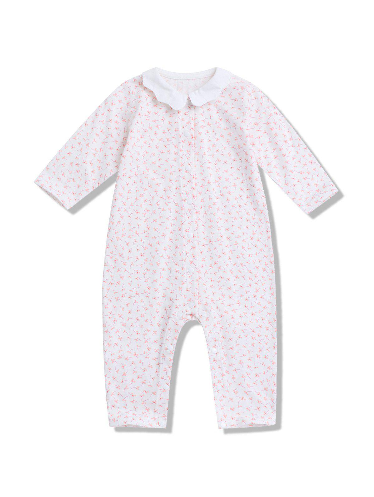 Tiny Flowers Pattern Baby Romper - multicolor 73