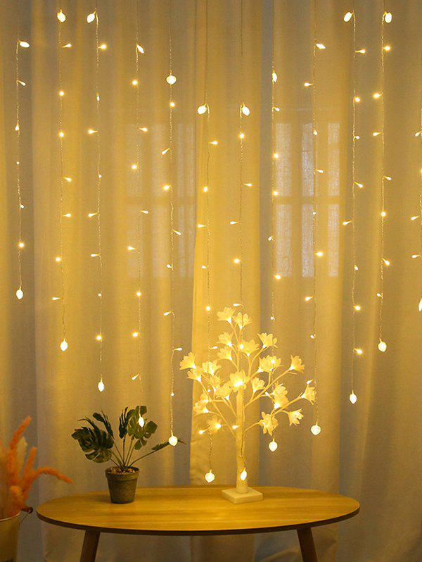 Heart-shaped LED Curtain Decorative String Lights - multicolor A