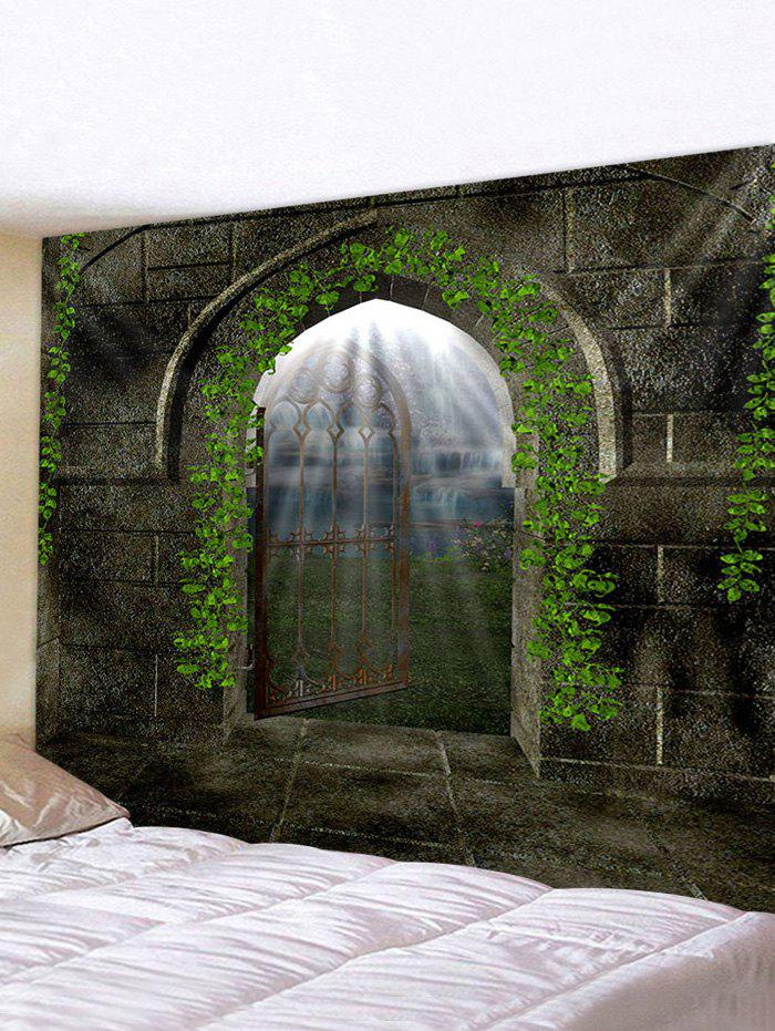 Castle Door Pattern Tapestry Wall Hanging Art Decoration - multicolor W118 X L79 INCH