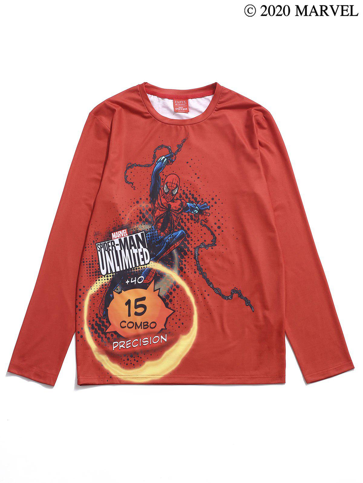 T-shirt Lettre Graphique Marvel Spider-Man - Rouge S
