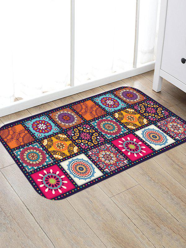 Bohemian Patchwork Floral Printing Floor Mat - multicolor A W16 X L24 INCH