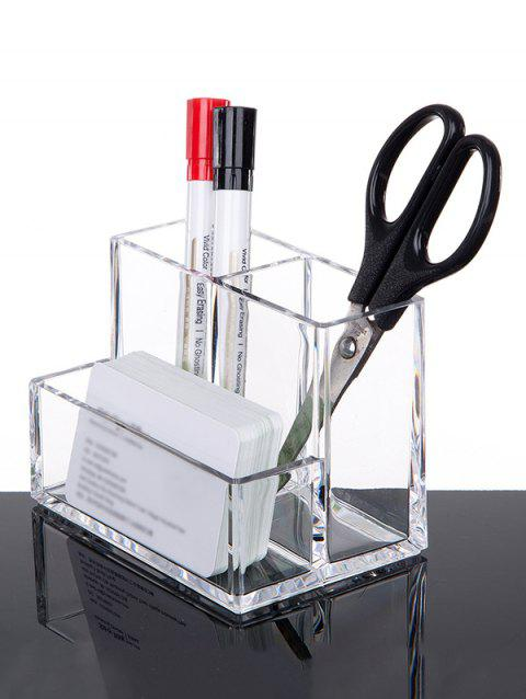 Transparent Acrylic Desk Storage Pen Holder