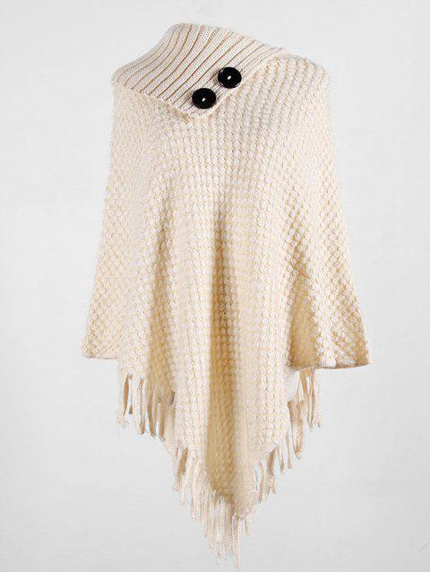Pull Poncho à FrangeGrande Taille
