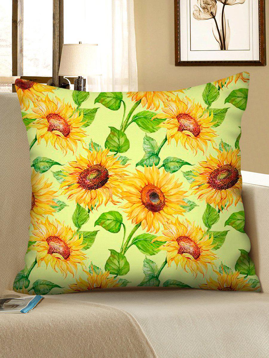Sunflower Printed Sofa Square Pillowcase - multicolor D W18 X L18 INCH