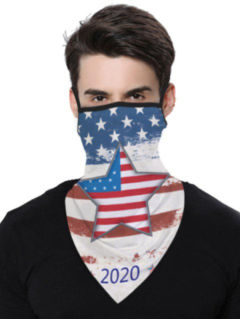 Stars And Stripes Flag Pattern Outdoor Protection Mask Scarf