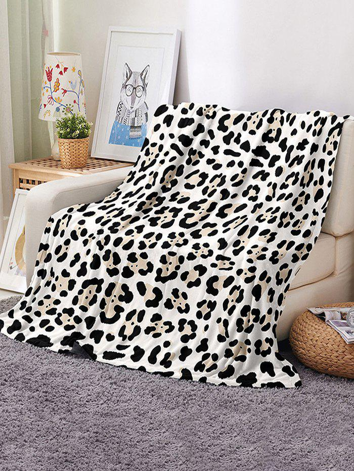 Leopard Printed Multifunction Nap Blanket - multicolor W59 X L51 INCH