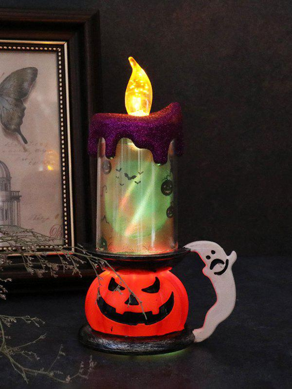 Halloween Pumpkin Candle Shape LED Decorative Light - multicolor B