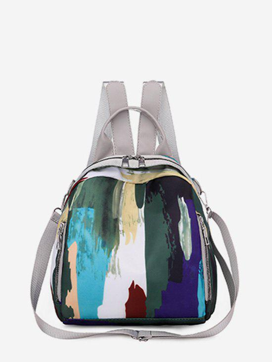Colorblock Camouflage Pattern Cloth Backpack - LIGHT GRAY