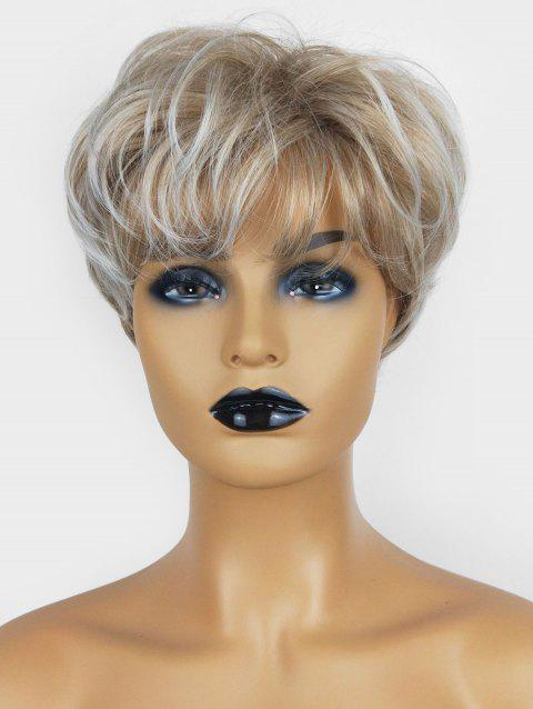 Short Pixie See-through Bang Slightly Wavy Fluffy Synthetic Wig