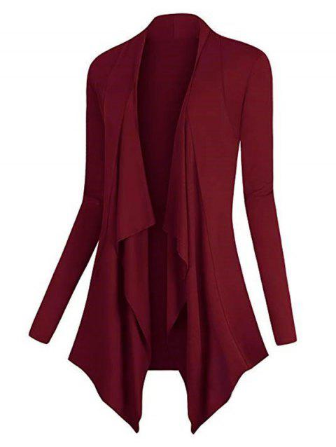 Plus Size Asymmetric Draped Front Cardigan