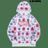 Marvel Spider-Man Venom Allover Pattern Hoodie - WHITE 2XL