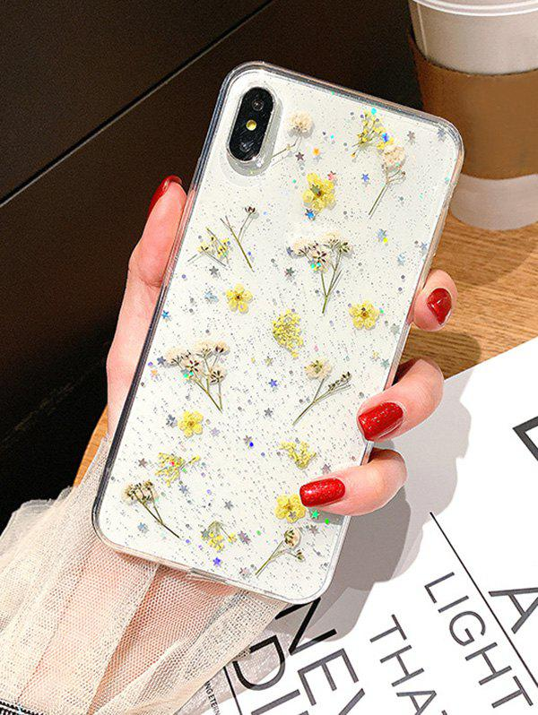 Dried Flowers Transparent TPUPhone Case For IPhone XS - multicolor A IPHONE XS