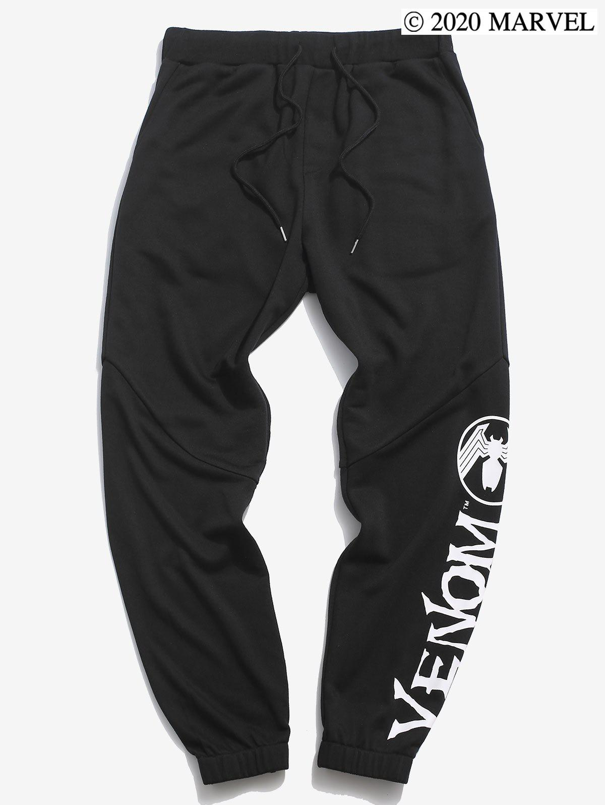 Pantalon de Survêtement Motif Marvel Spider-Man Venom - Noir 2XL