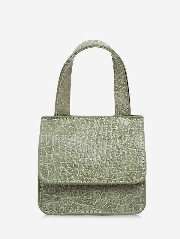 Square Cover Chain Small Hand Bag - LIGHT GREEN