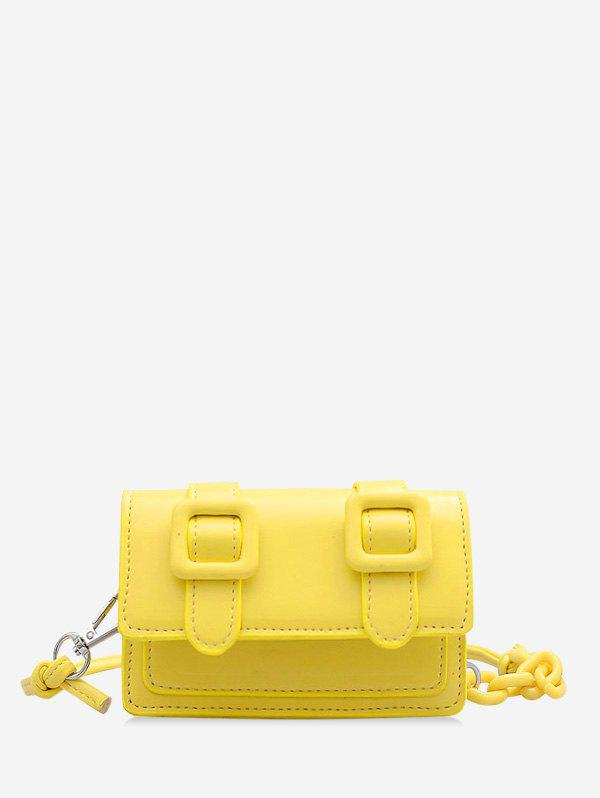 Mini Chain Crossbody Messenger Bag - SUN YELLOW
