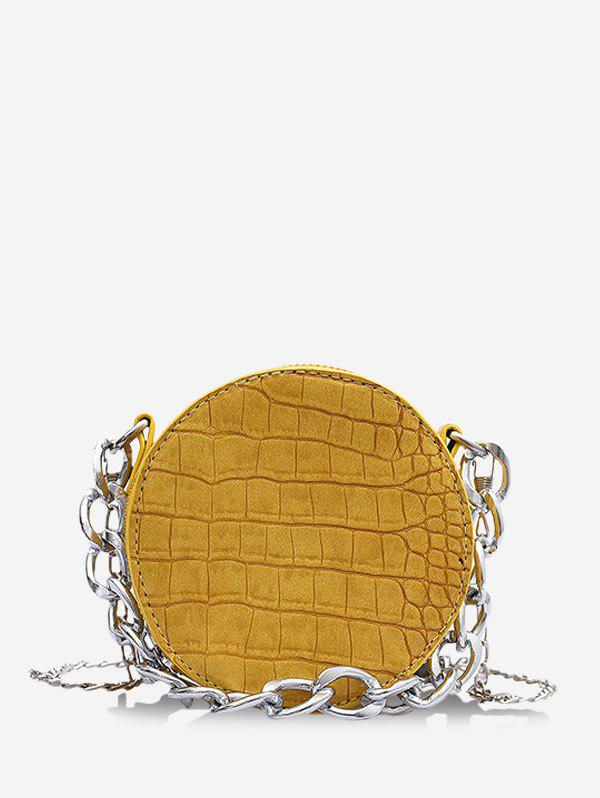 Chain Crossbody Mini Canteen Bag - SUN YELLOW