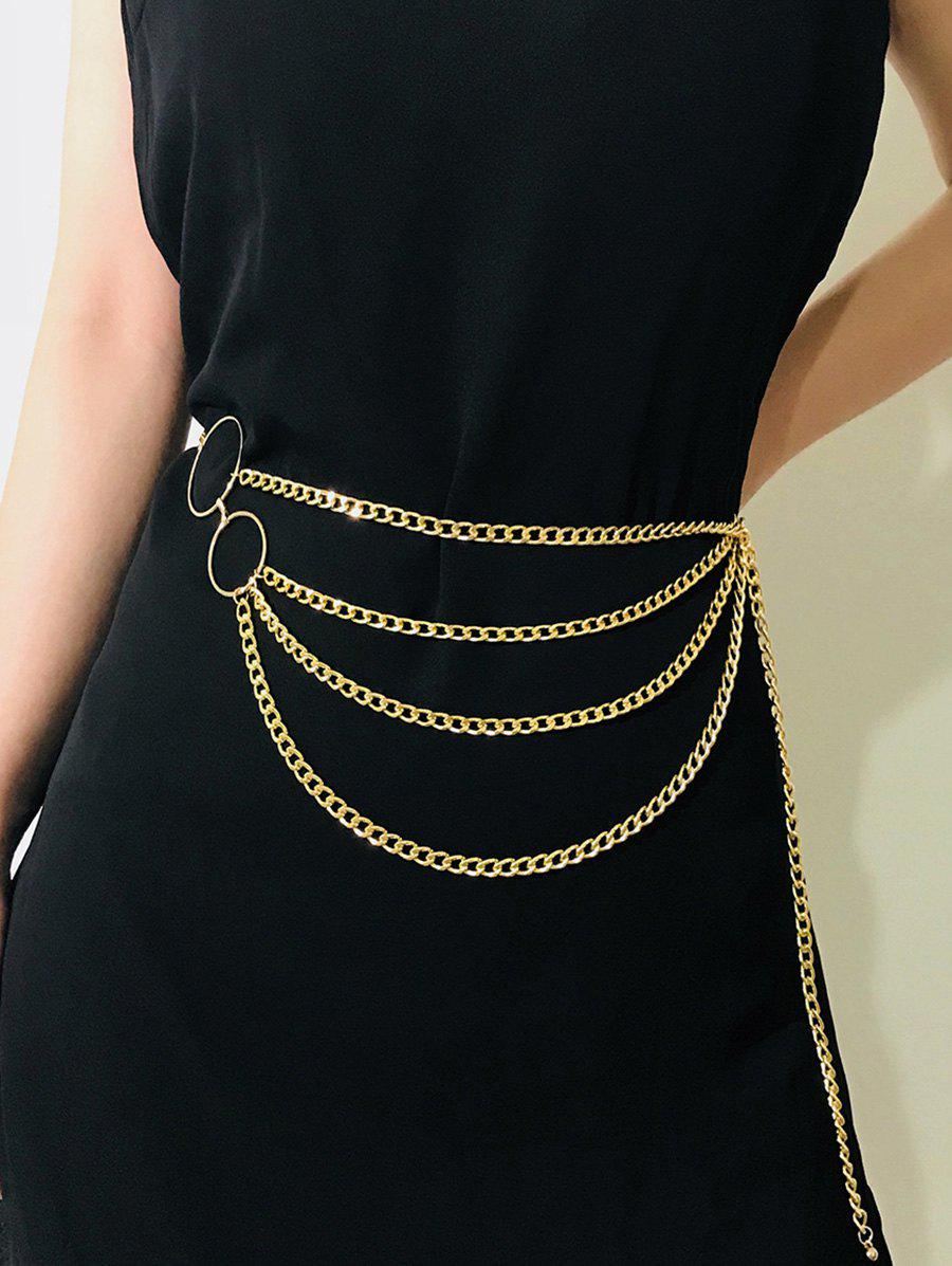 O-ring Layered Belly Chain - GOLDEN