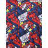 Marvel Spider-Man Figure Allover Pattern Hoodie - DENIM DARK BLUE XL