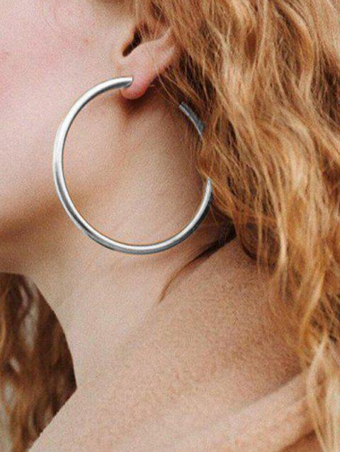 Round Ring Metal Stylish Street Hoop Earrings