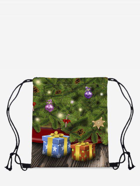 Christmas Tree Gifts Pattern Cinch Bag