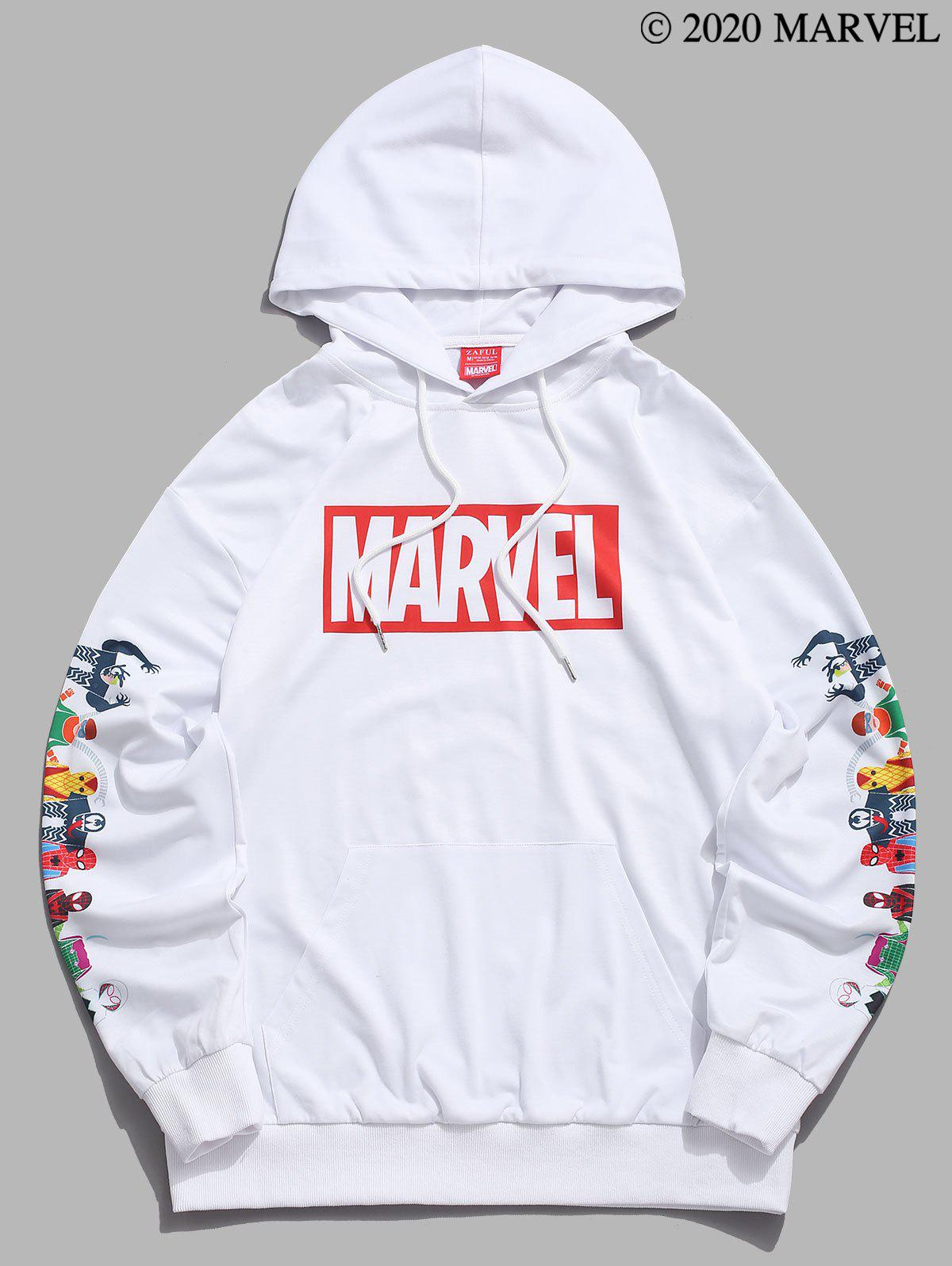 Marvel Spider-Man Spider-Girl Venom Print Hoodie - WHITE XL