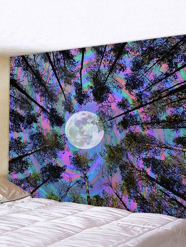 Forest Moon Print Home Wall Tapestry - multicolor I W59 X L51 INCH