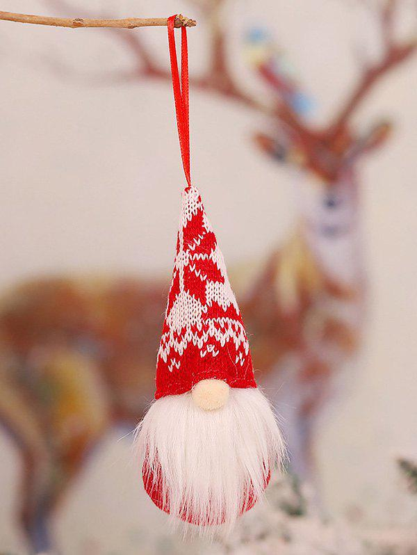 Knitted Forester Doll Christmas Tree Hanging Decor - multicolor A