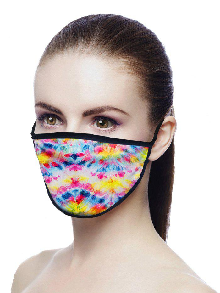 Printed Air Layer Fabric Face Mask - multicolor A 18*13CM