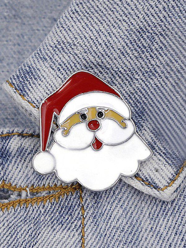 Christmas Santa Claus Shape Brooch - RED WINE