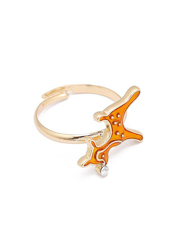 Christmas Adjustable Open Glazed Ring - multicolor D