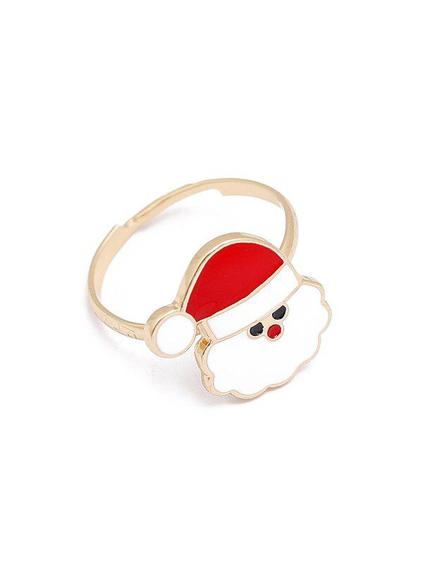 Christmas Adjustable Open Glazed Ring - multicolor H