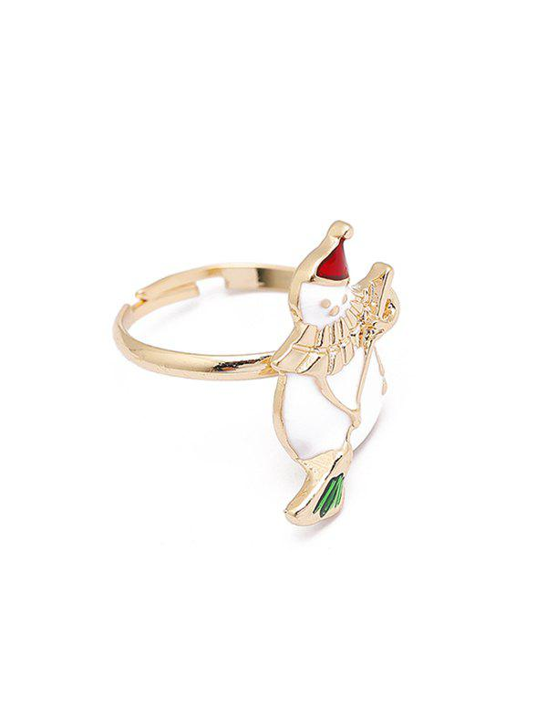 Christmas Adjustable Open Glazed Ring - multicolor L