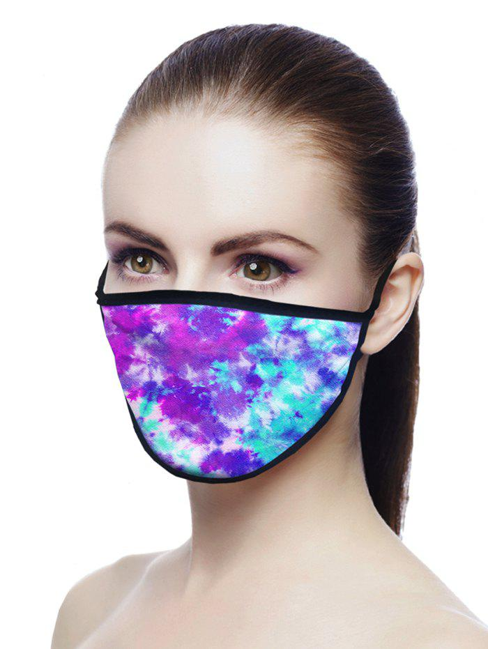 Tie Dyed Air Layer Fabric Face Mask - PURPLE 18*13CM