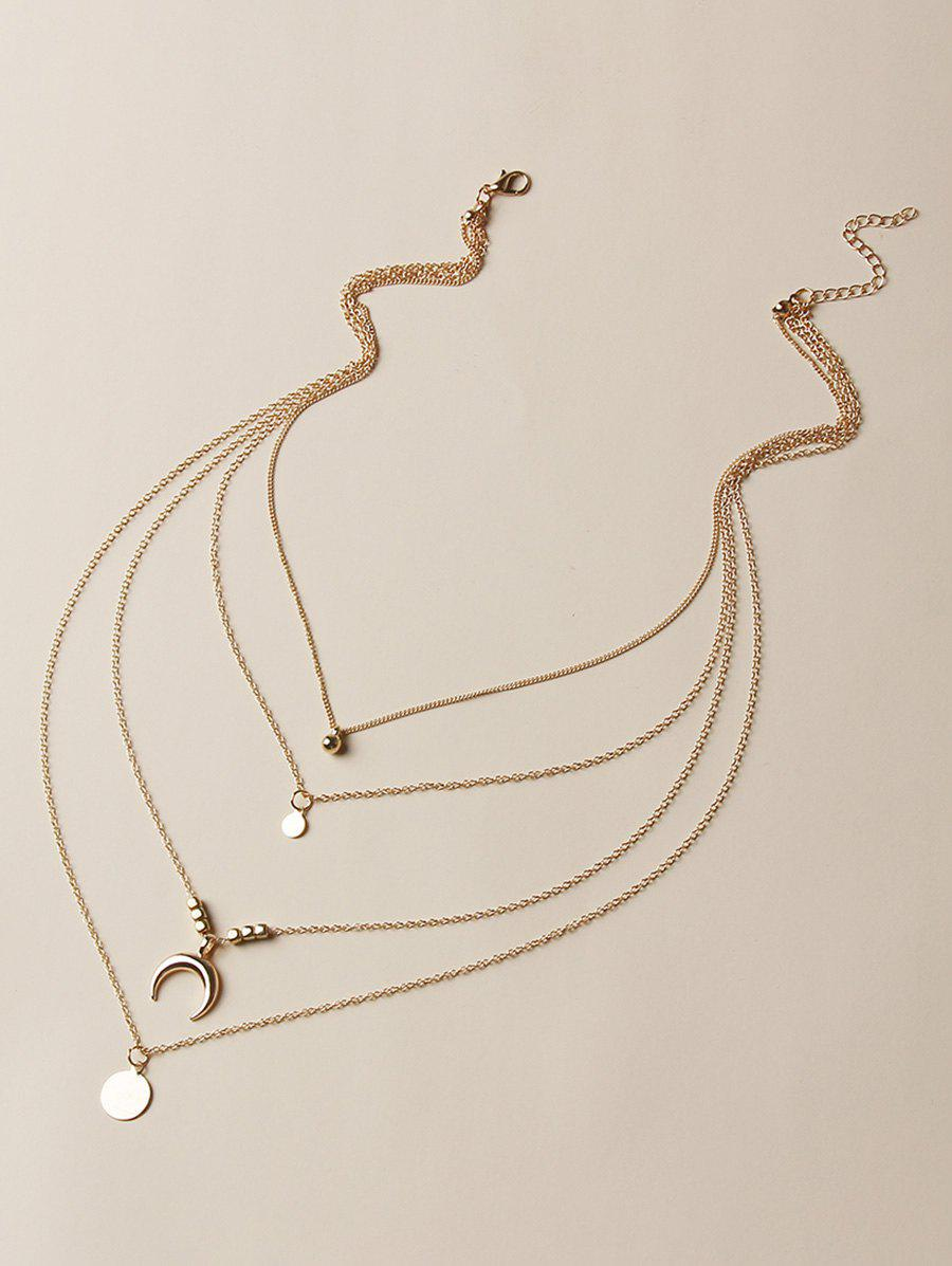 Collier Superposé Simple en Forme Ronde Lune - Or