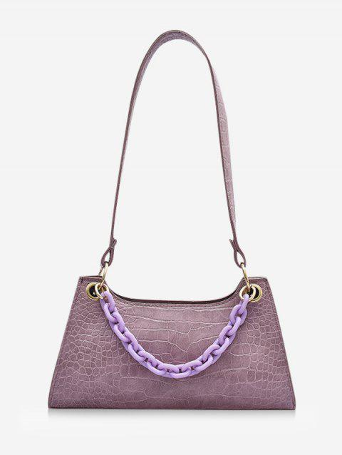 French Style Chain Solid Shoulder Bag