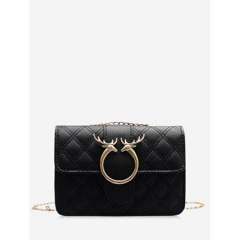 Elk Shape Quilted Chain Crossbody Bag