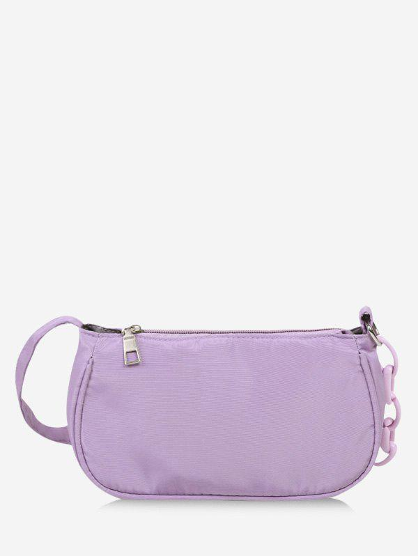 Brief Chain Solid Shoulder Bag - HELIOTROPE PURPLE