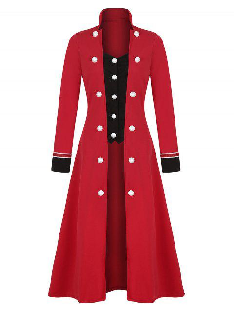 Plus Size Double Breasted Long Coat