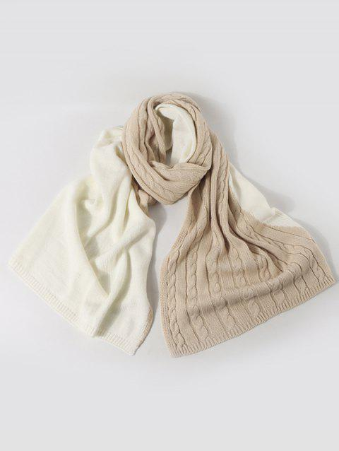 Contrast Knitted Long Scarf