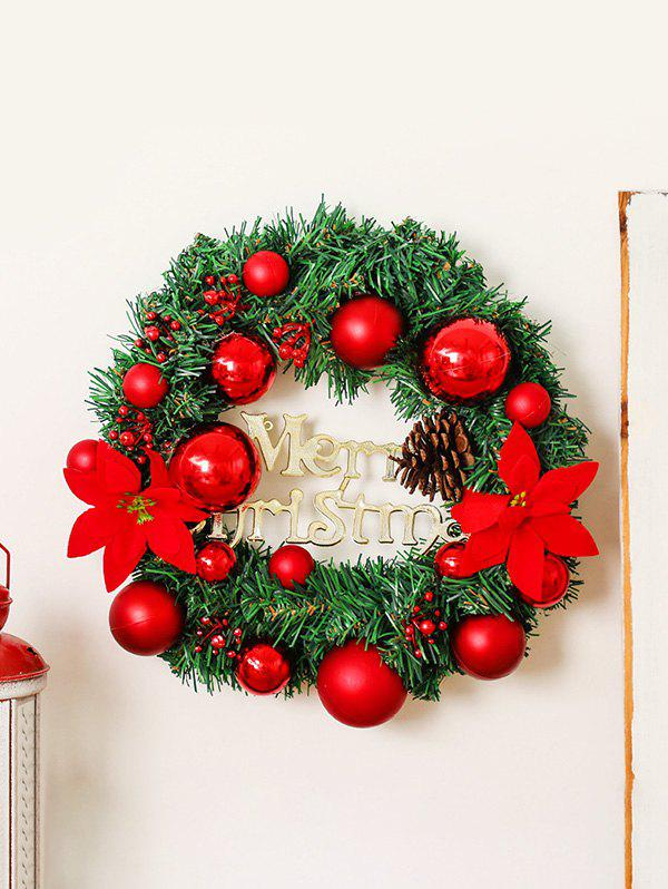 Merry Christmas Garland Floral Wall Decor - multicolor A