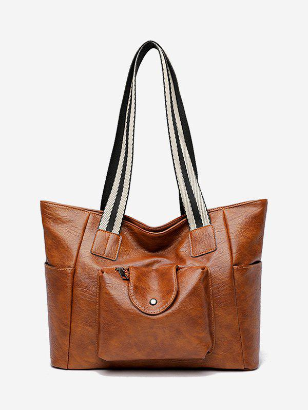 High Capacity Tote Bag - BROWN