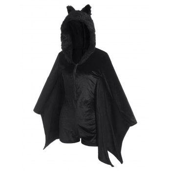 Faux Fur Panel Velvet Bat Halloween Costumes