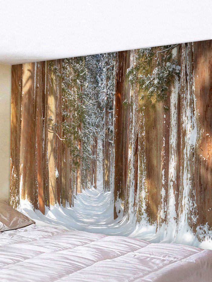 Forest Snow Print Multifunctional Decorative Wall Tapestry - multicolor W91 X L71 INCH