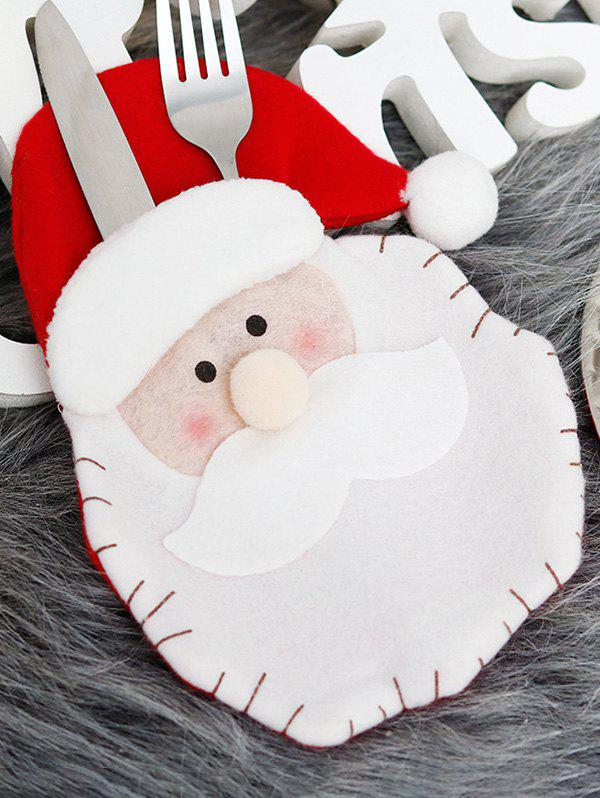Christmas Decoration Knife And Fork Party Tableware Cover - multicolor A
