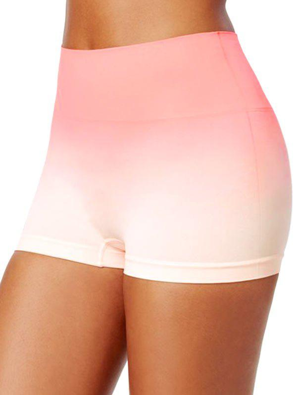 Ombre Skinny Short Leggings - LIGHT ORANGE 3XL