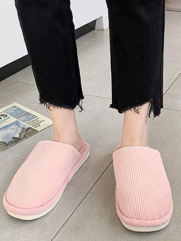 Solid Color Fuzzy Comfortable Slippers - LIGHT PINK EU 39